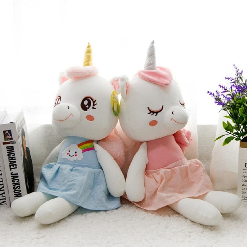 lovely cartoon Dress <font><b>Unicorn</b></font> Plush <font><b>Toys</b></font> cute <font><b>Unicorn</b></font> Dolls kawaii pillow Birthday presents image