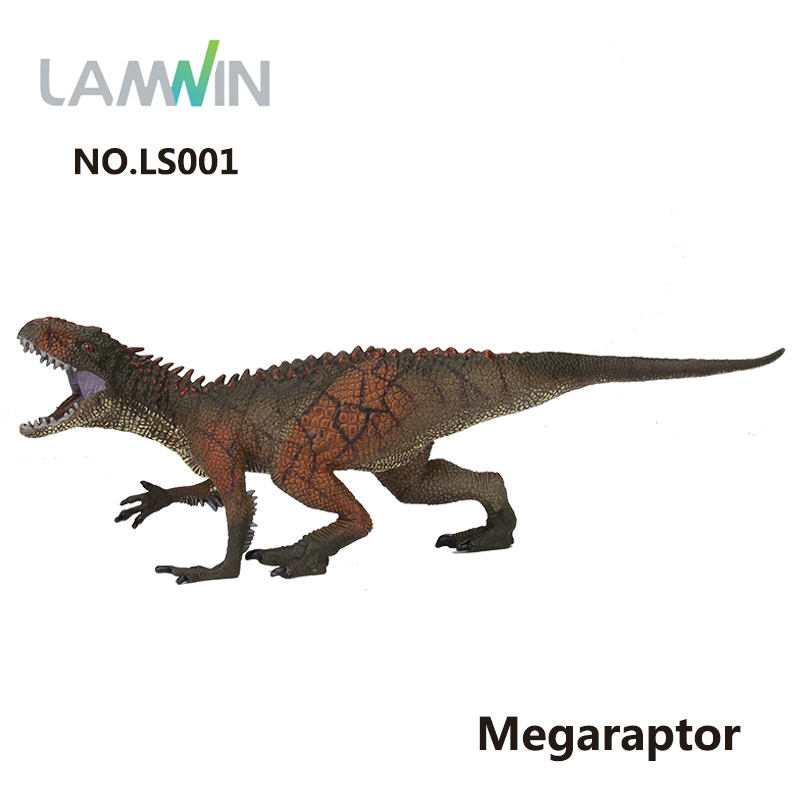 Lamwin Simulation Megaraptor Plastic PVC Dinosaurs Toy Model Jurassic World Park Animal Action Figure lamwin 6pcs lot large dinosaur toy collection set jurassic world park hollow model figure free gift dinossauro egg