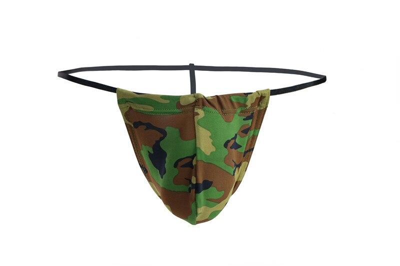 New Sissy Briefs Men Thongs Sexy Lingerie Pants Men Underwear Gay G String Flame Camouflage Underwear Male Jockstrap Briefs