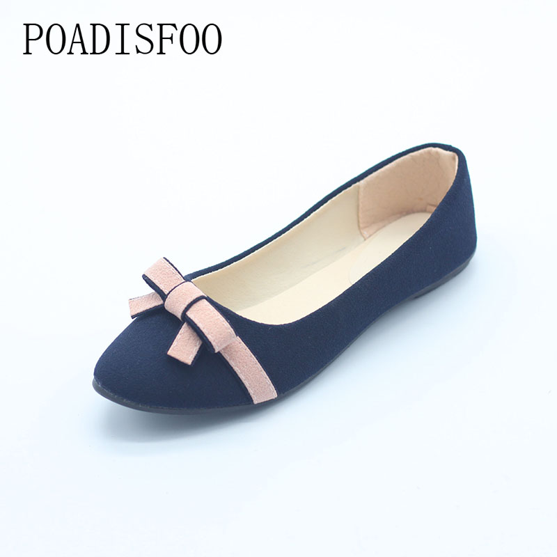 Shoes Women Sweet Bowtie Matte Leather shoes, Flat Casual Shoes Sweet girl, Students Pu Shoes For Female Plus Size .DFGD-A-1 smile circle genuine leather sneakers women lace up flat shoes women comfortable air cushion sneakers 2018 casual shoes