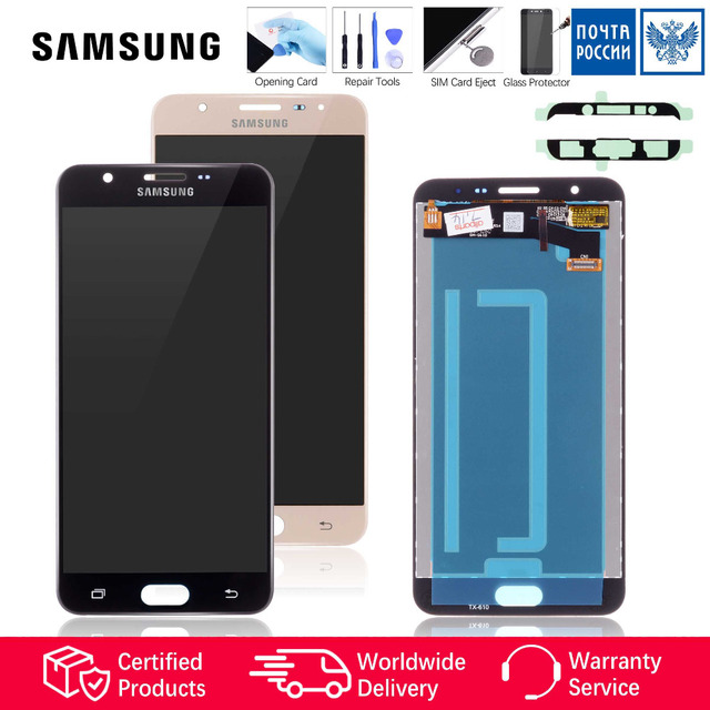 Display for SAMSUNG Galaxy J7 Prime LCD Touch Screen Digitizer Original 2016 G610 G610F G610M SM-G610F/DS