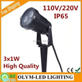 Free Shipping Modern Bright LED Lawn Light Spike 3W Outdoor 110V 220V Waterproof Garden Lighting Excellent Feedback