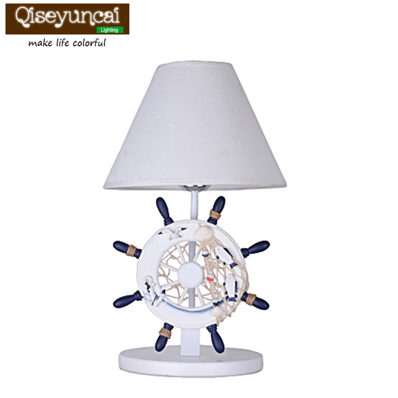 Qiseyuncai 2018Mediterranean modern table lamp creative fashion simple personality children's bedroom bedroom bedside lighting fashion simple modern k9 crystal table lamp warm bedroom bedside cabinet lights qiseyuncai