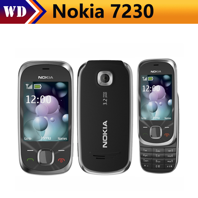 7230 Original Unlocked Nokia 7230 3G mobile phone 3.2MP Camera Bluetooth FM JAVA MP3 cheap cell phone