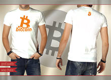 2019 Summer Short sleeve Fashion Tee Shirt BITCOIN Money men's T shirt Best Currency Tee COLOR: White Size: S - XXXL(China)