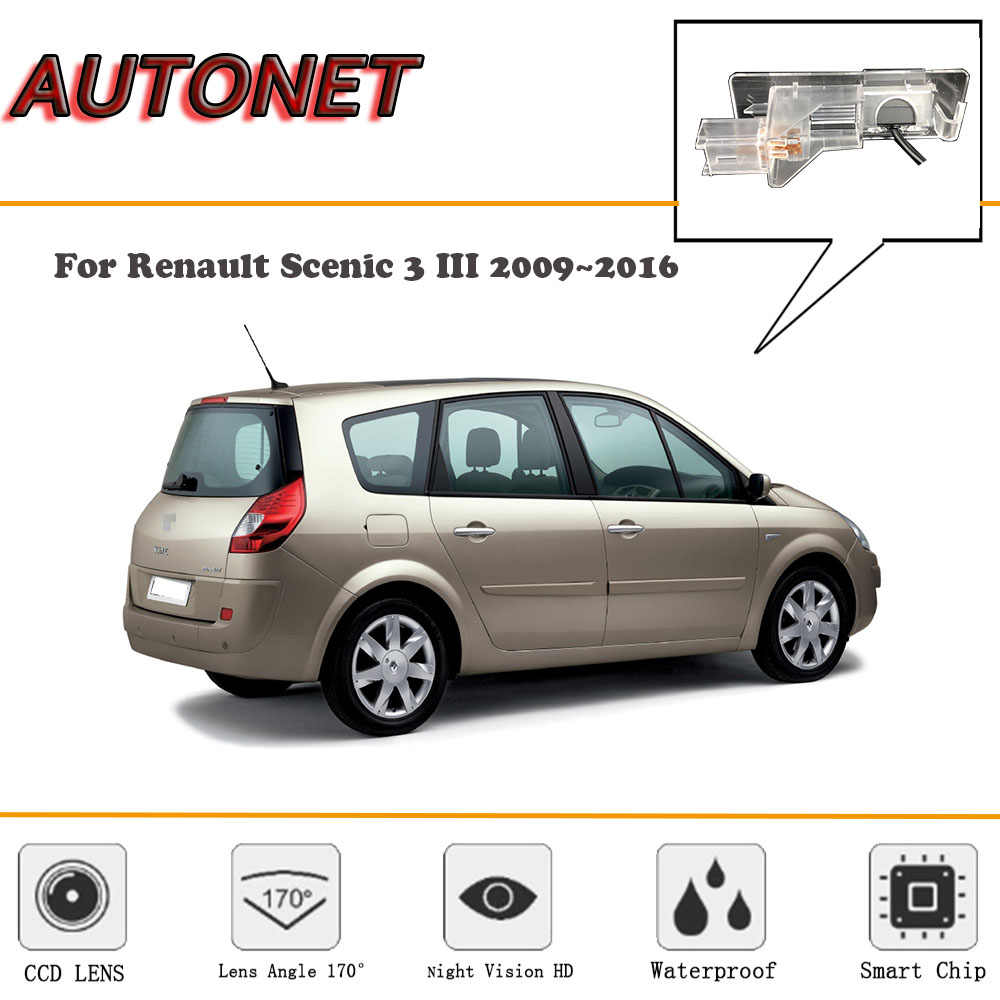 AUTONET HD Night Vision Backup Rear View camera For Renault scenic 2 II Renault Grand scenic 2003~2009/CCD/license plate camera