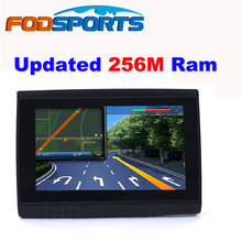 "2016 actualización 256 M Ram + pantalla hd! Fodsports marca 5 "" impermeable IPX5 Bluetooth GPS Navigator de motocicletas + 8 GB + FM + mapas"