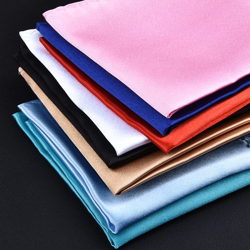 Men White Handkerchief Suit Pocket Towel Accessories Wedding Banquet Anniversary Commercial Black Red Blue