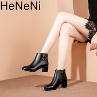 Woman Boots European style contracted Girl Boots Martin Boots 2018 Autumn Winter New Ladies High heeled Boots Plus size 32 43