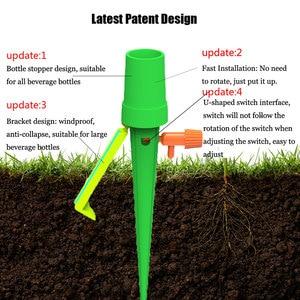 Image 5 - 20 adet/takım bahçe koni tembel kontrol ayarlanabilir otomatik sulama kitleri bitki çiçek sulama şişe sulama sistemi damla gemi