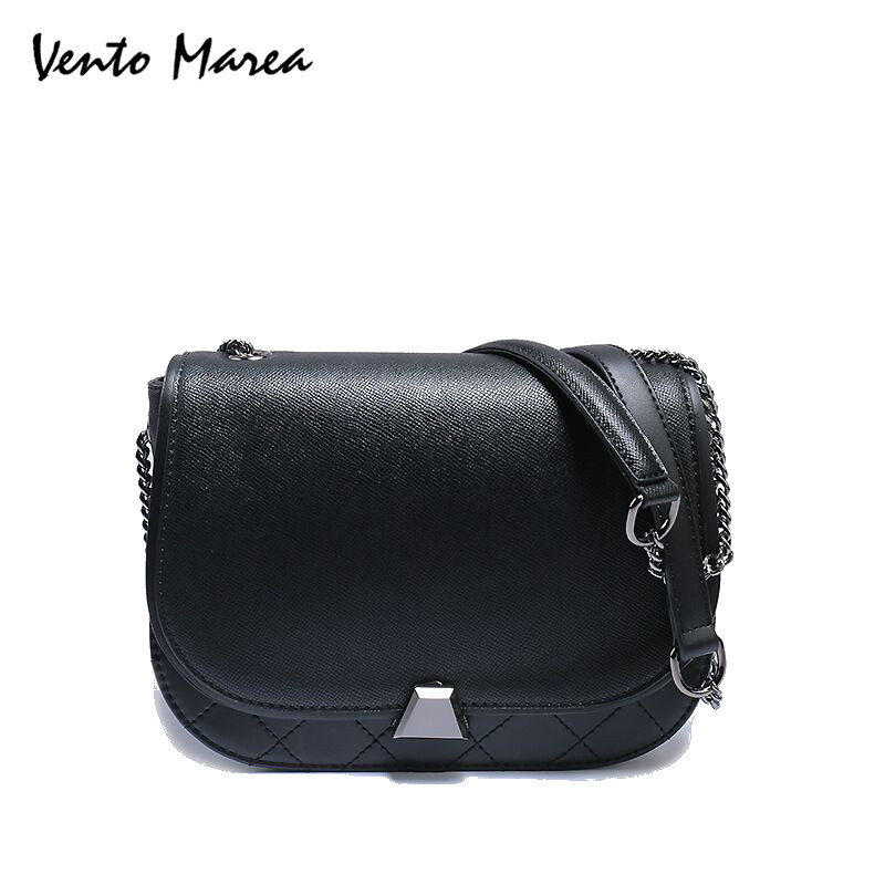 Designer Handbags High Quality Femmes Messenger Sacs 2018 Brand Chains Bag PU Leather Black Shoulder Bag Saddle Bag Sac A Main sa212 saddle bag motorcycle side bag helmet bag free shippingkorea japan e ems