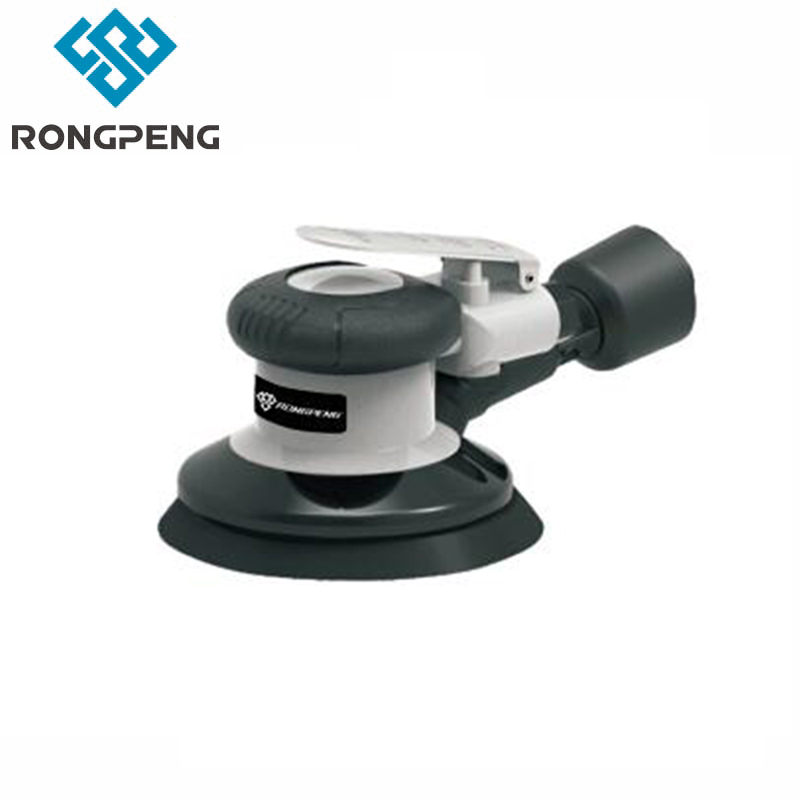 RONGPENG HEAVY DUTY 5 AIR SELF VACUUMING D/A SANDER PROFESSIONAL 6 Inch PNEUMATIC Palm Orbital SANDER TOOL RP7335S RP7336S