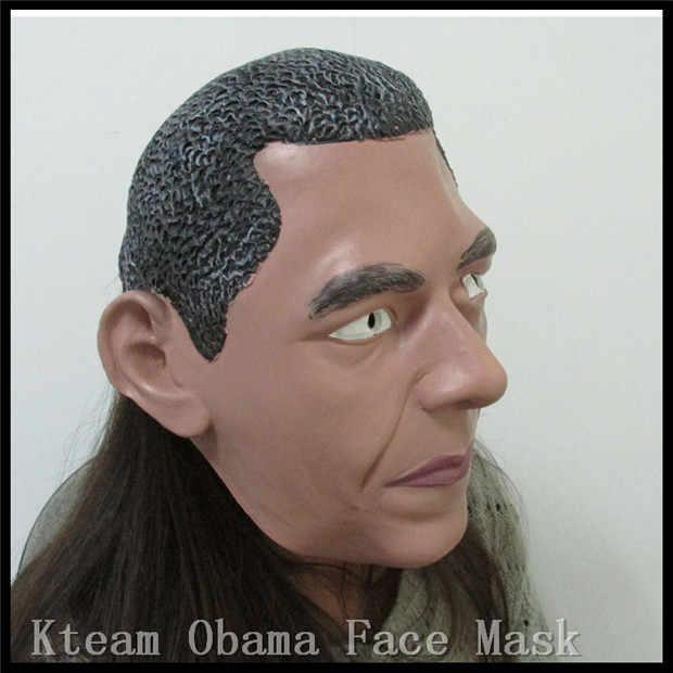 Бесплатная доставка президент США Барак Обама маска натуральный латекс Экология маскарад Хэллоуин для рождественской вечеринки президентских человек маска