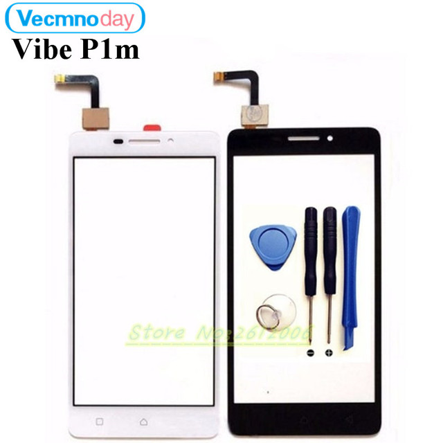 Vecmnoday Original New For Lenovo Vibe P1m P1ma40 P1m P1mc50 Black white Touch screen Panel Digitizer Test +tools