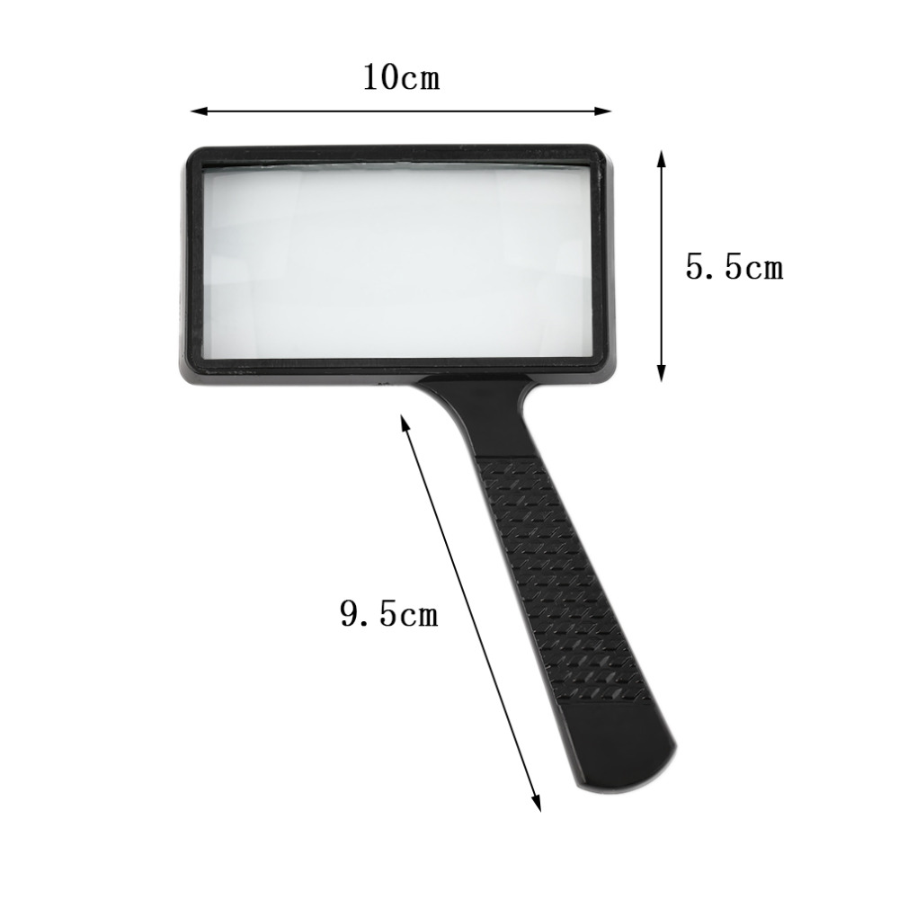 high quality 4X Rectangular Handheld Large Reading Magnifying Glass Magnifier hot sellin ...
