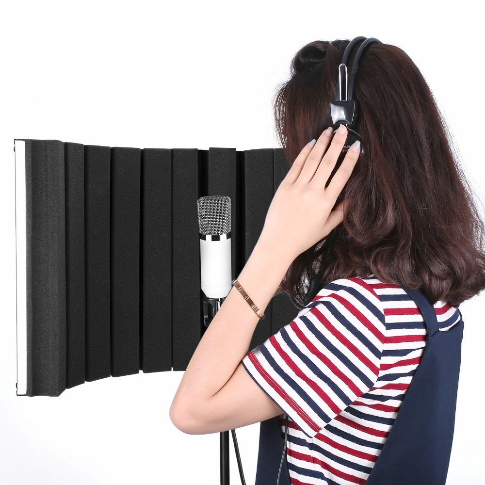 Neewer Foldable Microphone Acoustic Isolation Shield with Lightweight Metal Alloy Acoustic Foams Mounting Brackets and Screw