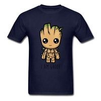 I Am Groot Guardian Of The Galaxy T Shirt Short Sleeve Custom T Shirts 2017 Hot