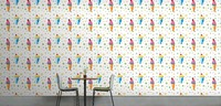 [Self Adhesive] 3D Strawberry Ice Cream 77 Wall Paper mural Wall Print Decal Wall Murals