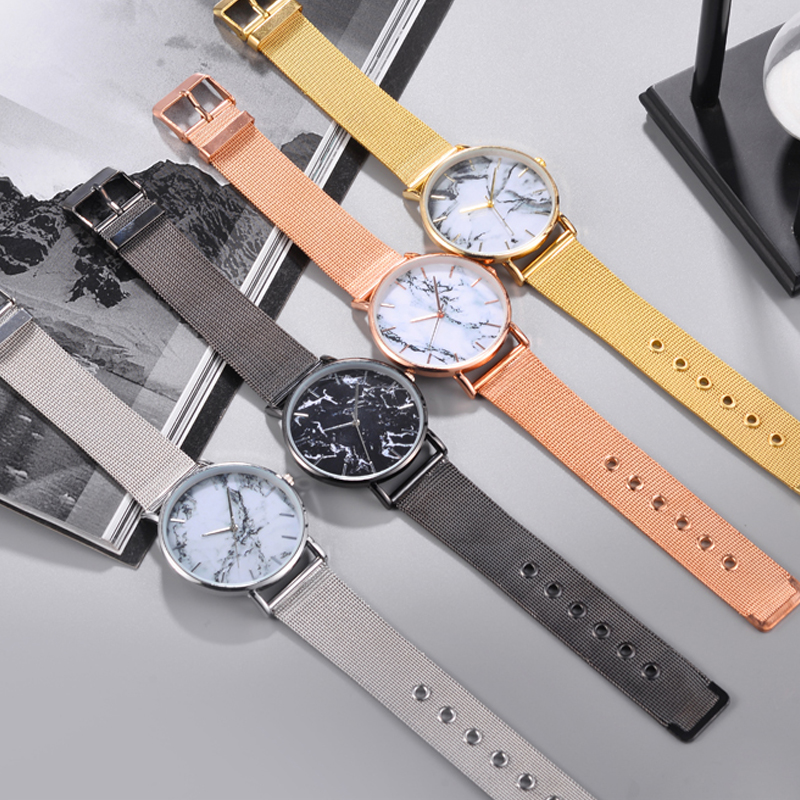 Unisex Watch Simple Quartz Geneva Clocks Chinese Style Mesh Strap Ink Wind Party Decoration WristWatches relogio feminino in Quartz Watches from Watches