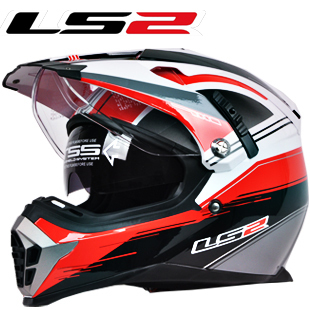 e62a32fd New LS2 motorcycle helmet MX455 dual lens professional off road dirt bike  helmet full face helmet safety adjustable airbags-in Helmets from  Automobiles ...