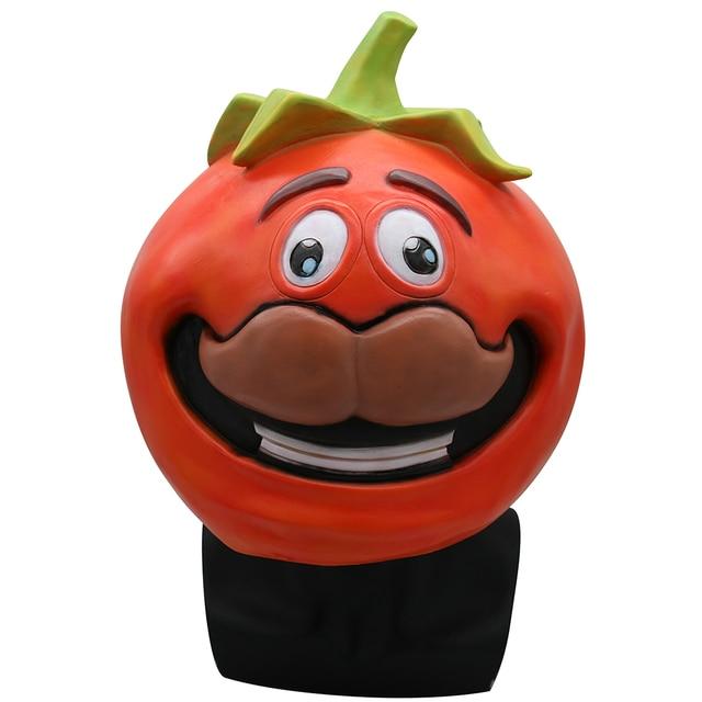 Fortniter Tomato Head Crown Mask Cosplay Fortnited Tomato Temple Tomato Head Crown Masks Adult Latex Helmet Halloween Party Prop 1