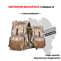 Outdoor Backpack Military Molle Tactical Bag Rucksack Backpacks Hiking Camping Fishing Camouflage Water Resistant Sport Bags
