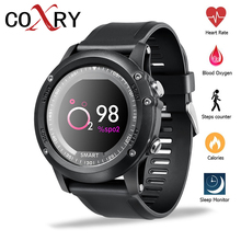 цена на COXRY IP68 Waterproof Smart Watch Men Heart Rate Sport Watches Blood Pressure Oxygen Monitor Smartwatch Android IOS Bluetooth