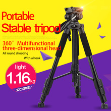 Zomei Q111 Professional Aluminium Tripod Camera Accessories Photography Portable Tripods Pan Head For Digital SLR DSLR