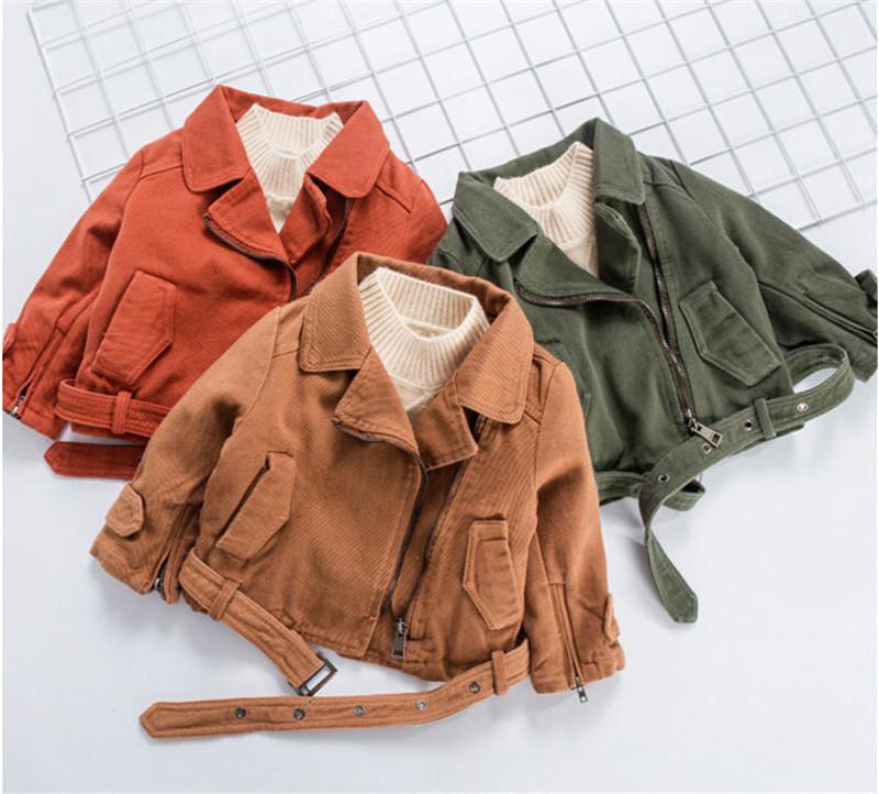 Kids Baby Girl Fashion Jacket Outfits Long Sleeve Girls Winter Autumn Coat Outwear Army Green Khaki Brick Red Thick Jackets цены