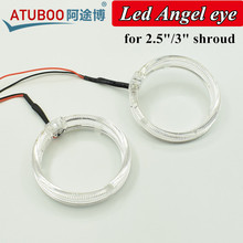 Ангел LED глаз дьявол глаз кольцо для 2.5 «или 3» HID Би-xenon объектив проектора Плащаницы маска для H1 фар 80 мм/95 мм Whtie/красный цвет