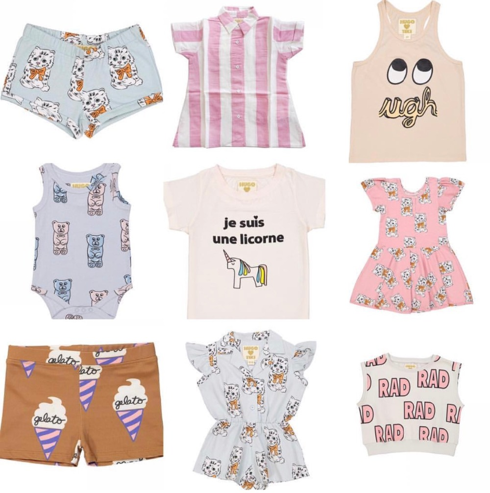 2017 ins hot summer hugo kids overalls baby boy clothes