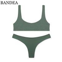 BANDEA Brand Bikini Set Sexy Swimsuit Women Solid Sport Bikini Brazilian Swimwear Thong Bikini Trajes De