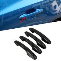For Ford Focus Sedan/Hatchback 2019 Carbon Fiber Car Door Handle Bowl Protector Cover Trim Molding ABS Chrome Car Styling