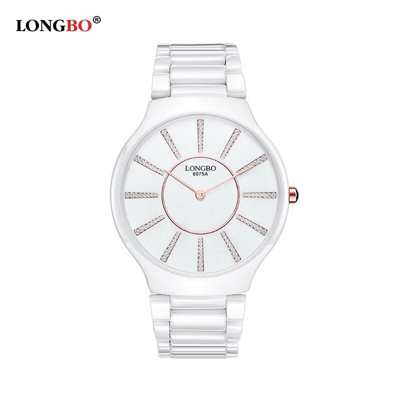 ФОТО New LONGBO Lovers' Watch Gift Watch Luxury Quartz Wristwatch Relogio Feminino Masculino 6075 Boyfriend Girlfriend Gift