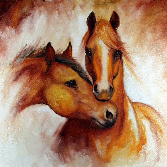Top Artist Hand Painted High Quality Wall Painting Modern Horse Canvas For Living Room Decoration Horses In Calligraphy From