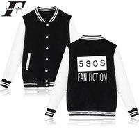 LUCKYFRIDAYF Seconds Of Summer Baseball Jacket Australia Punk Rock Band Autumn Coat Plus Sweatshirt Female Fashion