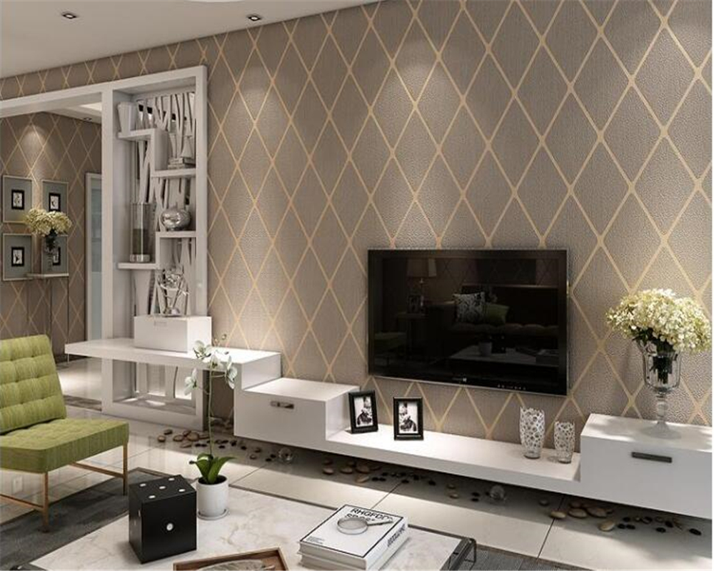 beibehang Modern minimalist 3D living room TV background wall paper bedroom bedside rhombic striped deerskin wallpaper behangbeibehang Modern minimalist 3D living room TV background wall paper bedroom bedside rhombic striped deerskin wallpaper behang