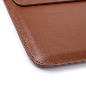 Image 3 - Leather Laptop Sleeve Bag For Macbook Air PRO 13 Case 11 12 15 Touch Bar Notebook PU Leather Case Ultrabook Carry Bag
