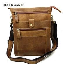 Fashion genuine nubuck leather men bag casual vintage crossbody bags cowhide leather men messenger bag high quality