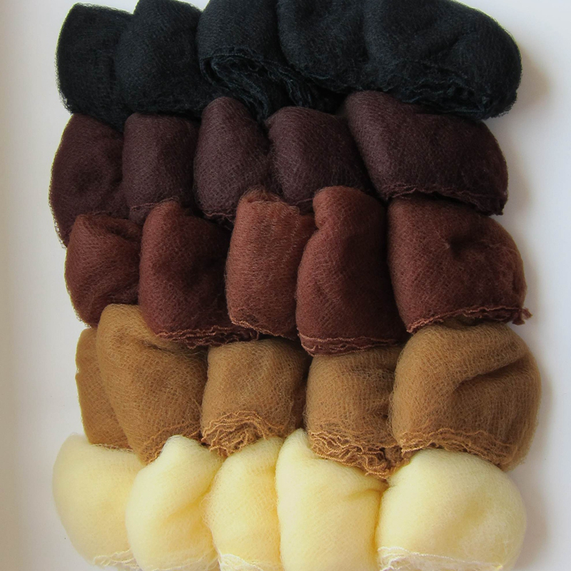 whole sale 500pcs hairnet 5mm nylon hair nets invisible disposable hair net 20inch five colors mix black,dark brown,brown,blonde