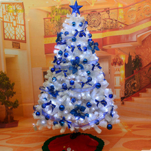 Teellook Christmas tree 1.8 m / 180cm white decoration packages suit