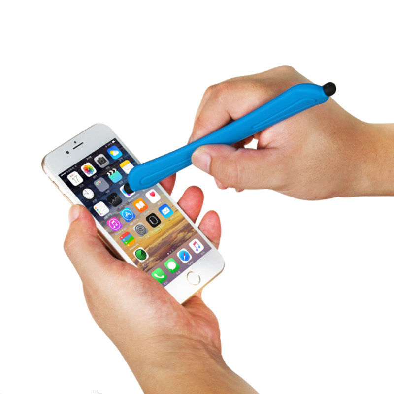 Universal Capacitive Screen Touch Pen for Tablets touch Pens for Samsung silicon band wrist strap Mobile Phone Stylus for iphone Pakistan
