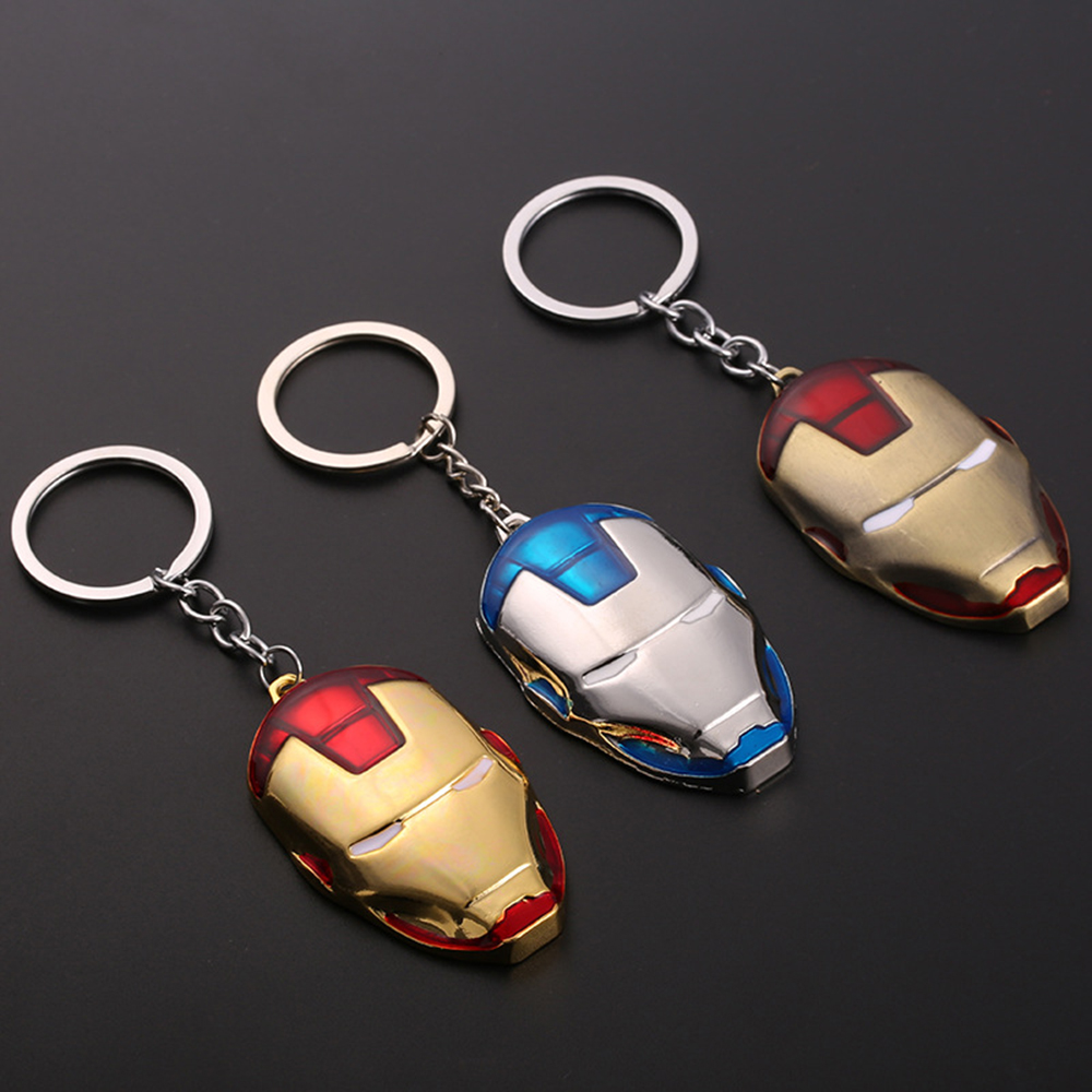 Superhero Thor Hammer Metal Keychain Toy Infinity War Ironman Mask jewelry Spiderman Batman Captain Marvel Key Chians Metal Toys in Action Toy Figures from Toys Hobbies