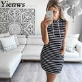 Women Summer Dress 2017 Tracksuit Hoodies Robe Pokect Striped Slim Dress Sleeveless A Line Casual Grey Hoody Vestidos CC8012