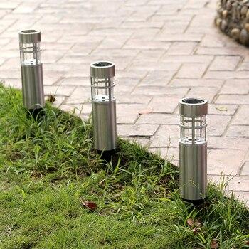 Edelstahl Wasserdichte Led Solar Licht Landschaft Pfad Lichter Garten Dekoration Lampe Außen Beleuchtung luz solar außen