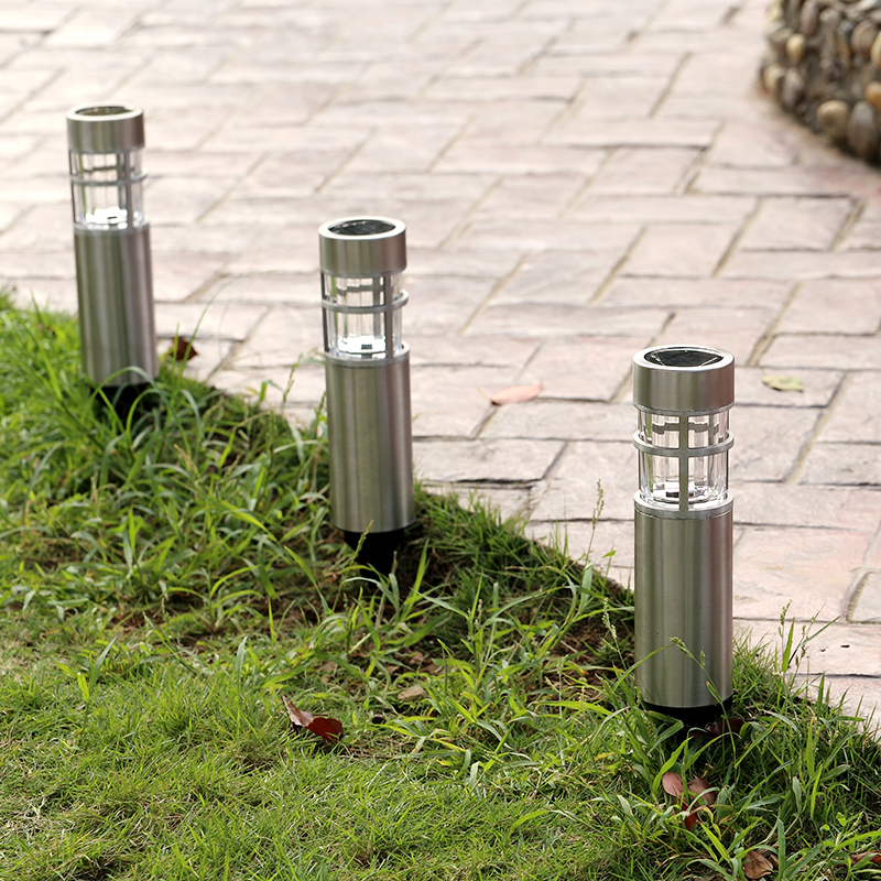 Stainless Steel Waterproof Led Solar Light Landscape Path Lights Garden Decoration Lamp Outdoor
