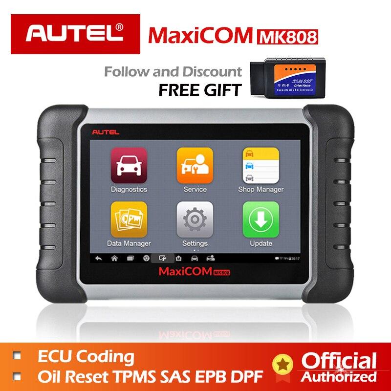 Autel MaxiCOM MK808 инструмент диагностики MX808 autel MK808 автомобильной сканер Ключевые программист ИММО код читатель PAD диагностический DS808