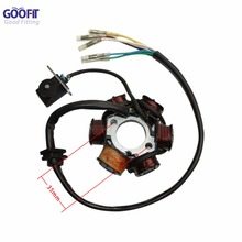 GOOFIT 6-Coil Magneto Stator Ignition Generator for GY6 50cc 70cc 90cc 110cc 125cc Moped ATV Dirt Bike K079-003 goofit gy6 4 stroke ignition coil plug for china made 50cc 70cc 90cc 110cc 125cc atv scooter dirt bike go kart moped h053 018 2
