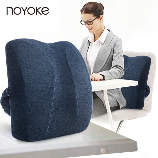 NOYOKE 41*34*11 Cm Memory Foam Waist Cushion Office Nap Rest Chair Back