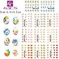 BLE2237-2247 popular variedad de atractivos flores de diseño Para El arte del clavo etiqueta engomada del clavo de transferencia de agua de colores